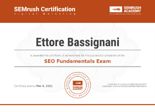 SEMrush - SEO Fundamentals Certification