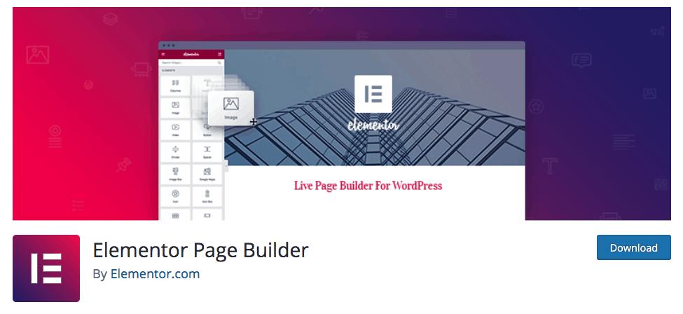 7 Best Plugins for WordPress - Elementor Page Builder